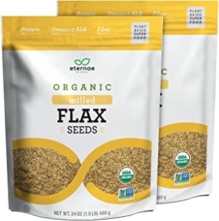 Eternae By Nature Organic Milled Flax Seeds, 24 Oz, 2Count