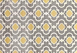 Moroccan Trellis Contemporary Gray/Yellow 2' x 3' Indoor Area Rug