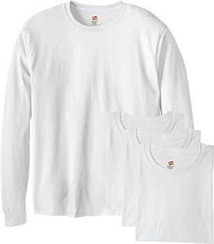 4-Pack Hanes Men's ComfortSoft Long-Sleeve T-Shirt