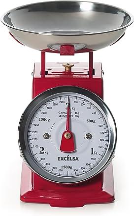 (Red) - Excelsa Vintage Red Kitchen Scales 3 Kg./10 Gr.