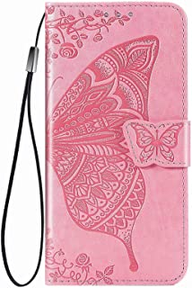 YukeTop Case for vivo V20 2021, PU Leather Flip Folio Wallet Cover, With Card Slots, Case Cover for vivo V20 2021.(Pink)