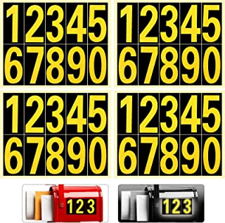 Sponsored Ad - 40 Pieces Reflective Mailbox Number Sticker Decal Adhesive Reflective Address Numbers Number 0-9 Waterproof...