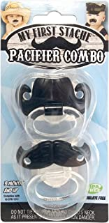 Mustache Pacifier 2 Pack! Billy-Bob Pacifier Combo