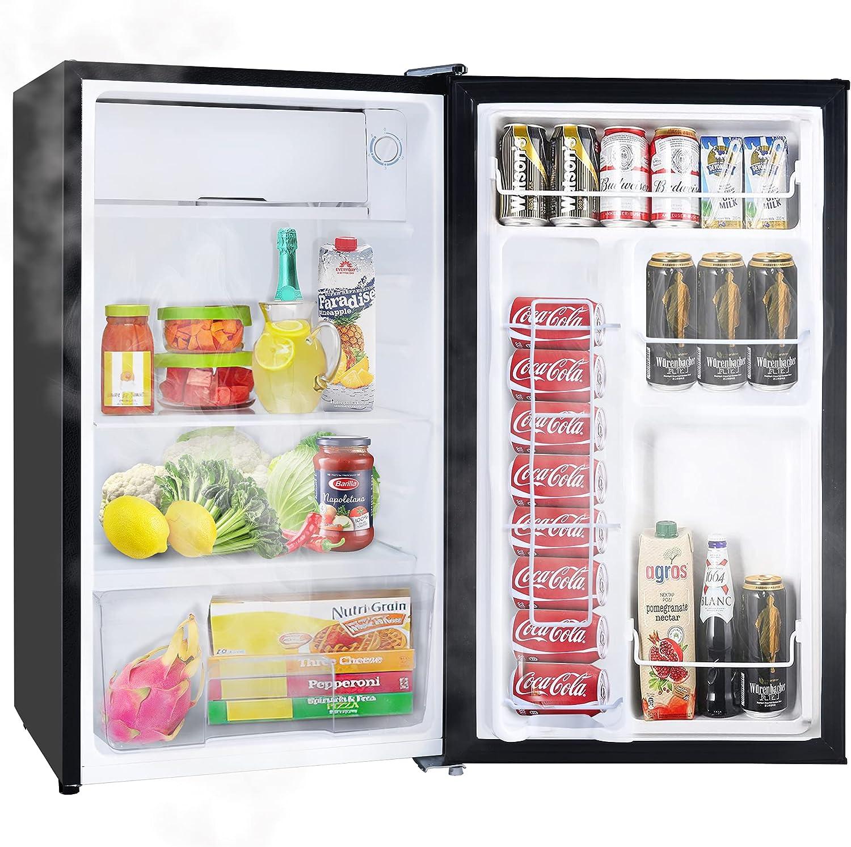 Merax 9.9 Cu.Ft. Compact Refrigerator, Mini Fridge with Freezer, Reversible  Door, 9 Settings, Energy Star Single Door Refrigerator for Kitchen, Dorm,  ...