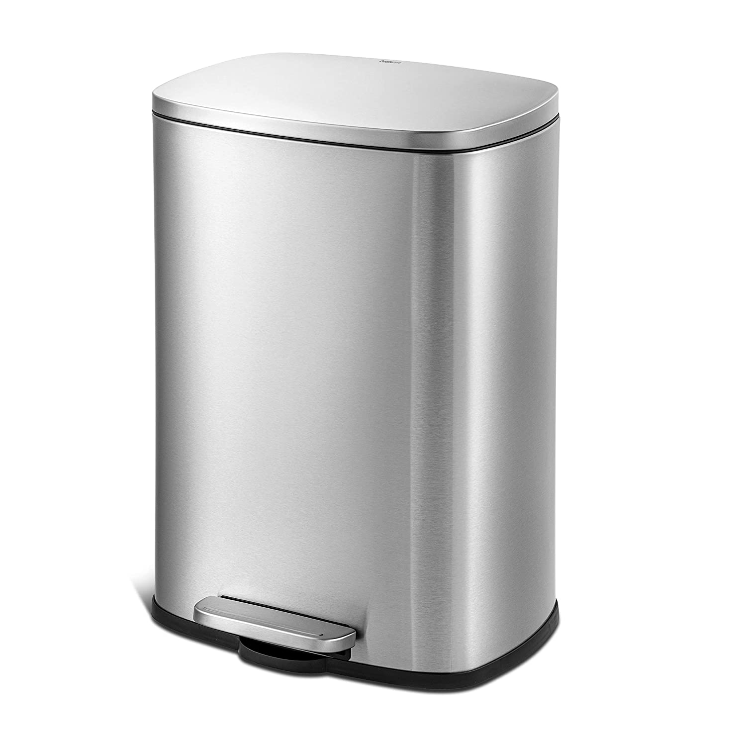 QUALIAZERO 50L 13Gal Heavy Duty Comme Hands-Free Steel Overseas parallel New life import regular item Stainless