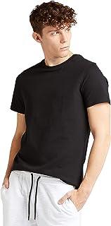 Iconic Men's 2300506 POPCORN TEE Cotton T-Shirt, Black