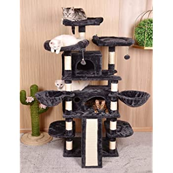 68 Inch Multi-Level Cat Tree King/X-Large Size Cat Tower with Cozy Perches, Stable for Large Cat/Gig Cat
