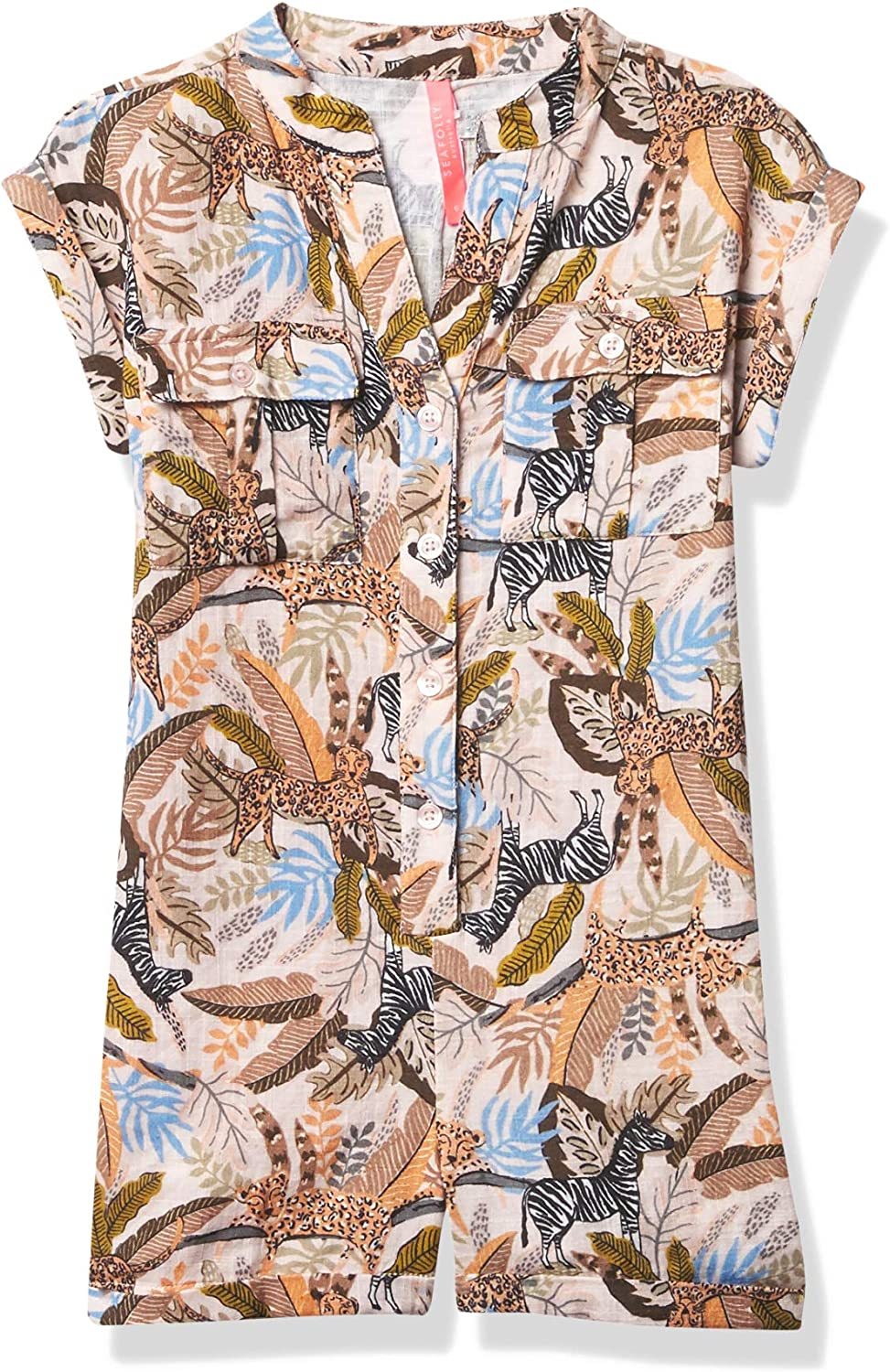Seafolly Girls' Short Sleeve Romper Swimsuit Cover Up