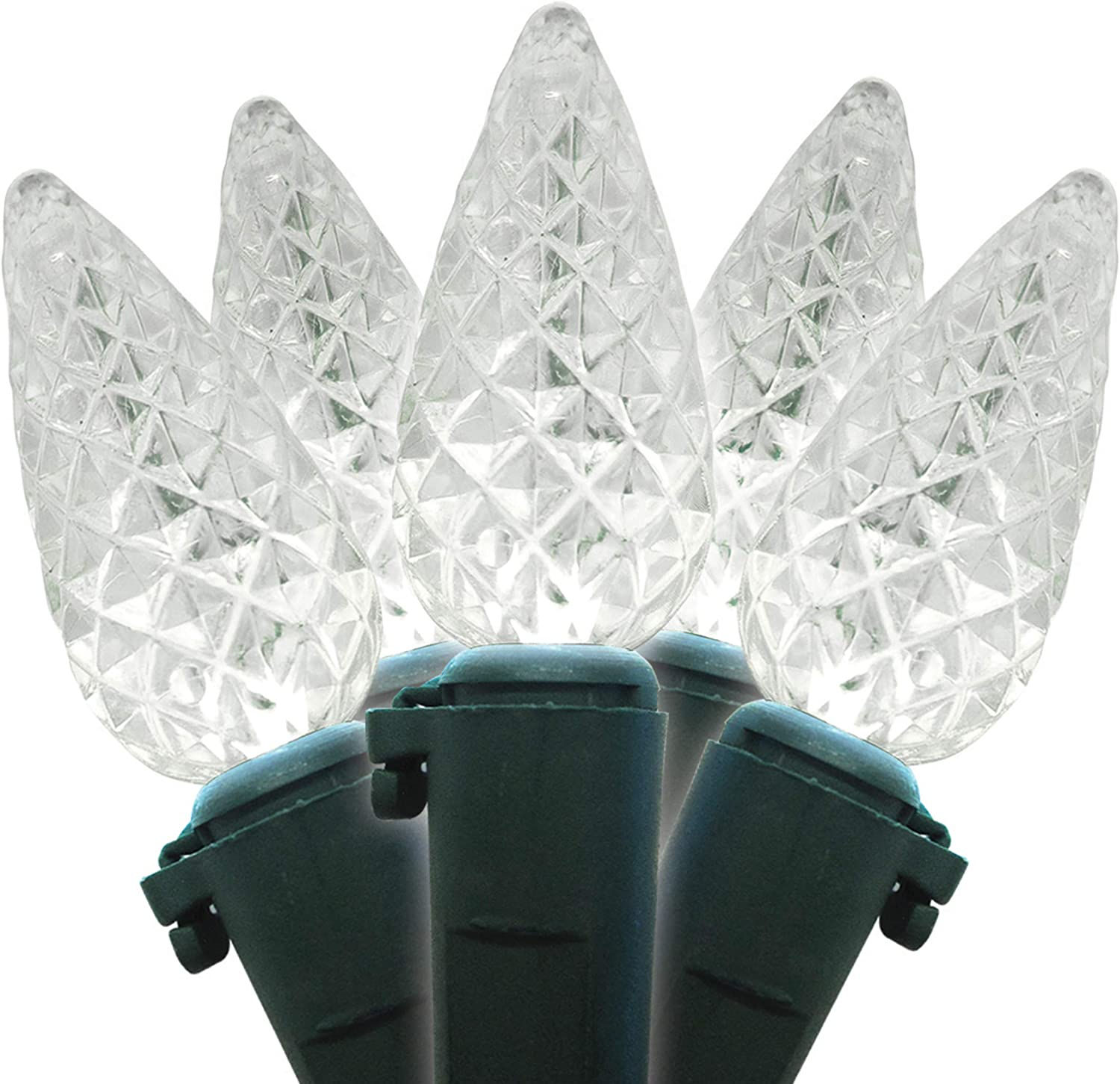 Brite Star 80ct LED-C6 Faceted Light Today's only Count 80 Pure Translated White