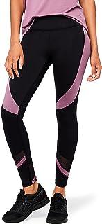 Marque Amazon – AURIQUE Legging de Sport Bicolore Taille Haute Femme