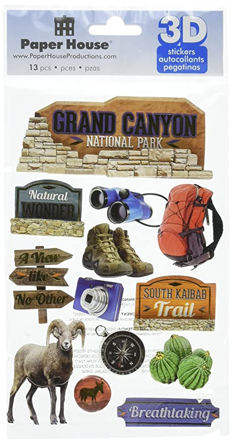 Paper House Productions STDM-0248E 3D Cardstock Stickers, Grand Canyon (3-Pack)