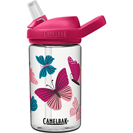 CamelBak eddy+ 14 oz Kids Water Bottle with Tritan Renew – Straw Top, Leak-Proof When Closed