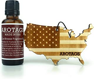 Arotags Rescentable Car Air Freshener (Backwoods Birch Fragrance) – Made in U.S.A.