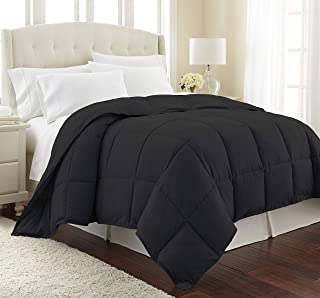 Southshore Fine Living, Inc. Vilano Springs Premium Quality Over-Sized All-Season Down-Alternative Comforter, Black, Twin/Twin XL