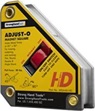 """Strong Hand Tools, Heavy Duty, Adjust-O Magnet Square, On/Off Switches, Pull Force: 65 lbs, 4-3/8"""" x 3-3/4"""" x 1-1/8"""", MSA4..."""