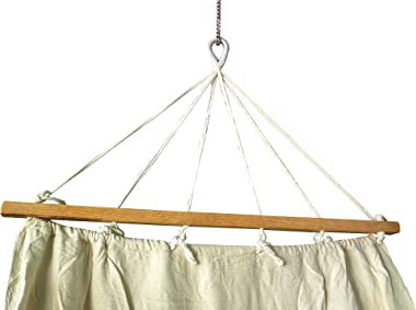 Reti Gritti - A-R2d50-JCD1- Toile en coton pour hamac, à suspendre entre 2arbres, beige clair