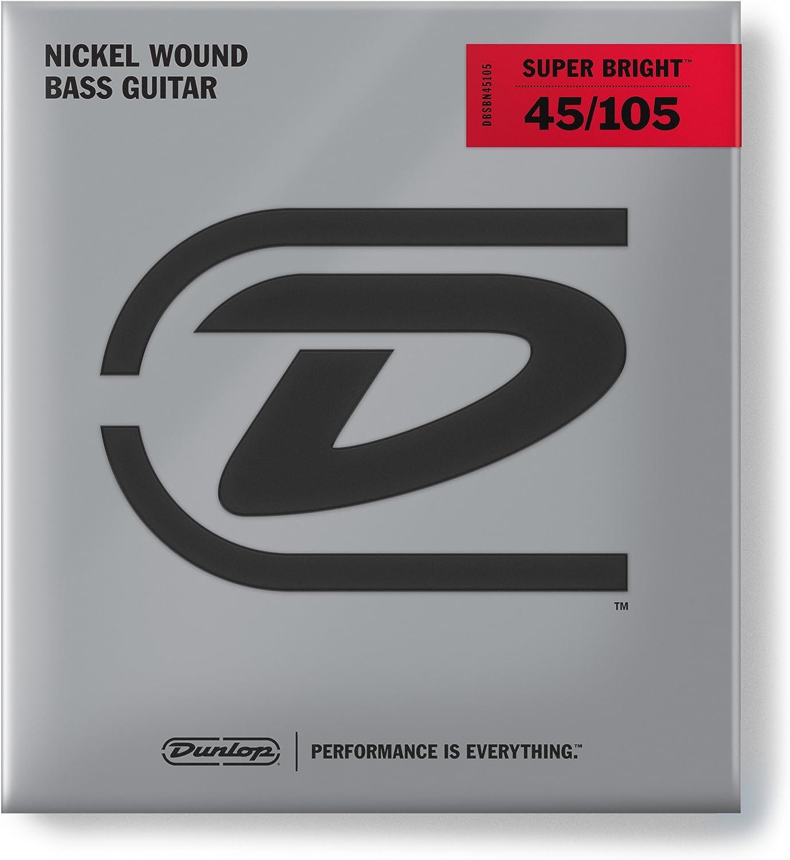Dunlop DBSBN45105 Super Bright NickelPlated Steel Bass 4 String Set, .45.105