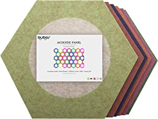 BUBOS Acoustic Absorption Panel,Ultra High Density 230 Kilograms/m3 Soundproofing Panels,Multiple styles Options,Good for Soundproofing and Acoustic Treatment,12 x 12 Inches (Join, Hexagon)