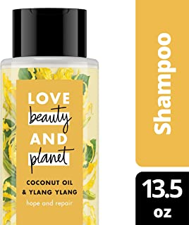 Love Beauty and Planet Hope and Repair Coconut Oil & Ylang Ylang Shampoo for Split Ends, 13.5 oz