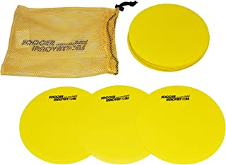 Soccer Innovations Flat Training Disc Markers, Yellow