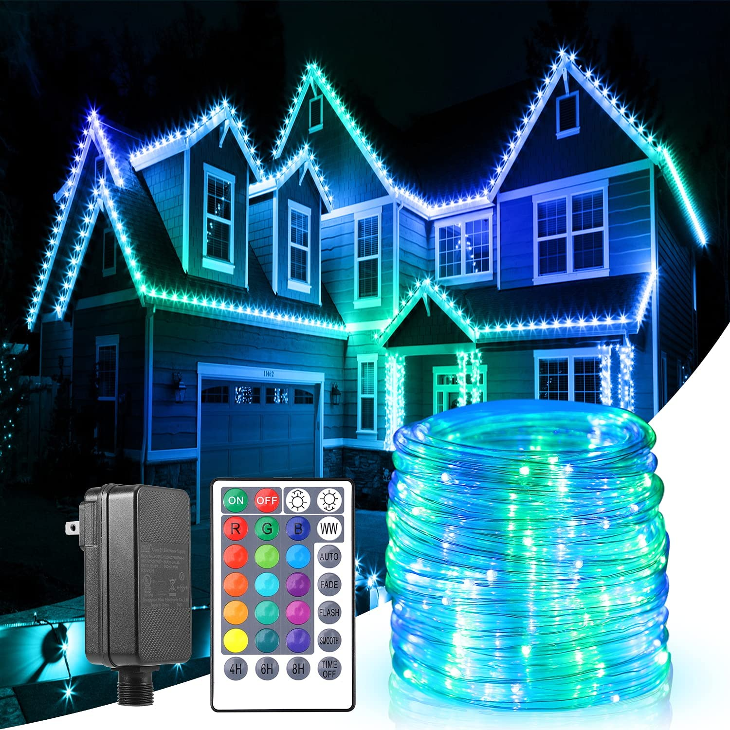 B-right Rope Lights Outdoor 17 Color 20 Changing Outstanding Max 74% OFF Modes LED RGBW
