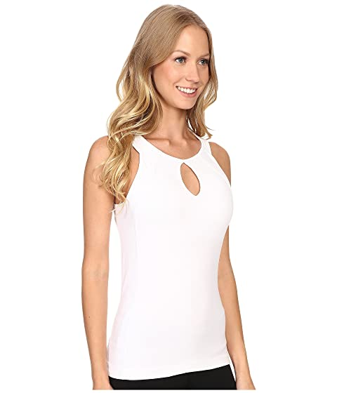 Hard Tail Y Frame Slit Tank w/ Bra White Footlocker Cheap Price For Sale Wholesale Price Outlet Store Online Cu52k
