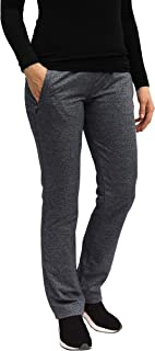 SCR SPORTSWEAR Women's Wider Waist Slimming Fitted Athletic Sweatpants Yoga or Casual Pants Black Navy
