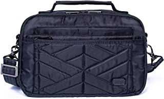 Lug Women's RFID Top Handle Crossbody Bag-Scoop 2, Midnight Black, large