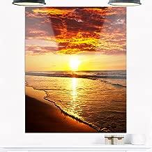 Design Art MT10562-12-28 Sea & Shore Yellow Metal Wall Art,Yellow,12x28