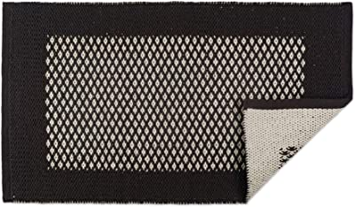 DII Indoor Braided Cotton Handloomed Yarn Dyed Woven Reversible Area Rug for Bedroom, Living Room, Kitchen, 2x3' - Diamond Mineral Gray