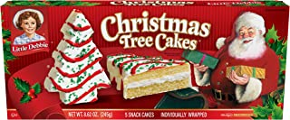Little Debbie Vanilla Christmas Tree Cakes 3 Boxes of 5 (Total 15 Cakes)