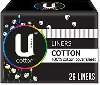 U by Kotex Cotton Liners, Pack of 26