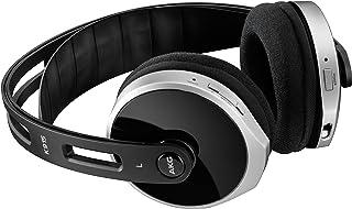 AKG 立体声无线耳机 柔软加垫 可充电 传奇的AKG-音质和自动调整 功能 包含充电座 扩展坞 可兼容于Apple iOS 和安卓设备 黑色