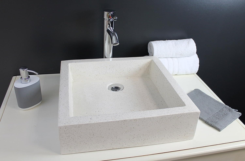 Aqua Plus cvtimb40pier Stamp 40 Countertop Wash Basin Cream Grey