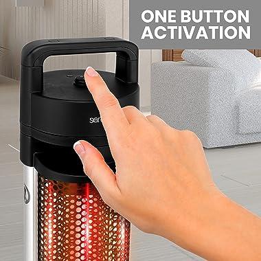 Infrared Outdoor Electric Space Heater - 900Watt Portable Fast Heating Indoor/Outdoor Heater Odorless Waterproof Electric Pat