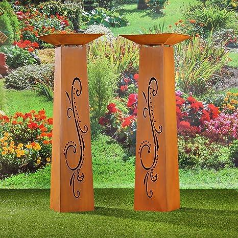 Schale dekosäule mit Edelrost Dekosäulen