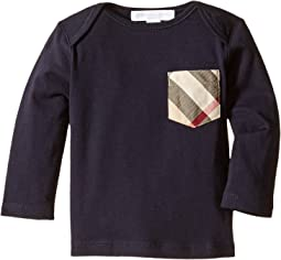 Burberry Kids - Long Sleeve Tee w/ Check Pocket (Infant/Toddler)