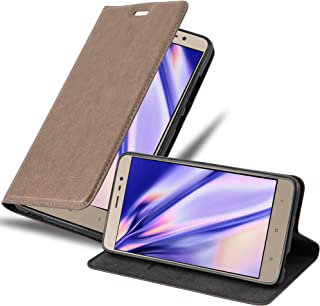 Cadorabo Book Case Works with Xiaomi RedMi Note 3 in Coffee Brown – with Magnetic Closure, Stand Function and Card Slot – Wallet Etui Cover Pouch PU Leather Flip