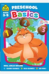 School Zone - Preschool Basics Workbook - 64 Pages, Ages 3 to 5, Colors, Numbers, Counting, Matching, Classifying, Beginning Sounds, and More (School Zone Basics Workbook Series) Paperback