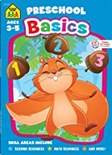 School Zone – Preschool Basics Workbook – 64 Pages, Ages 3 to 5, Colors,..