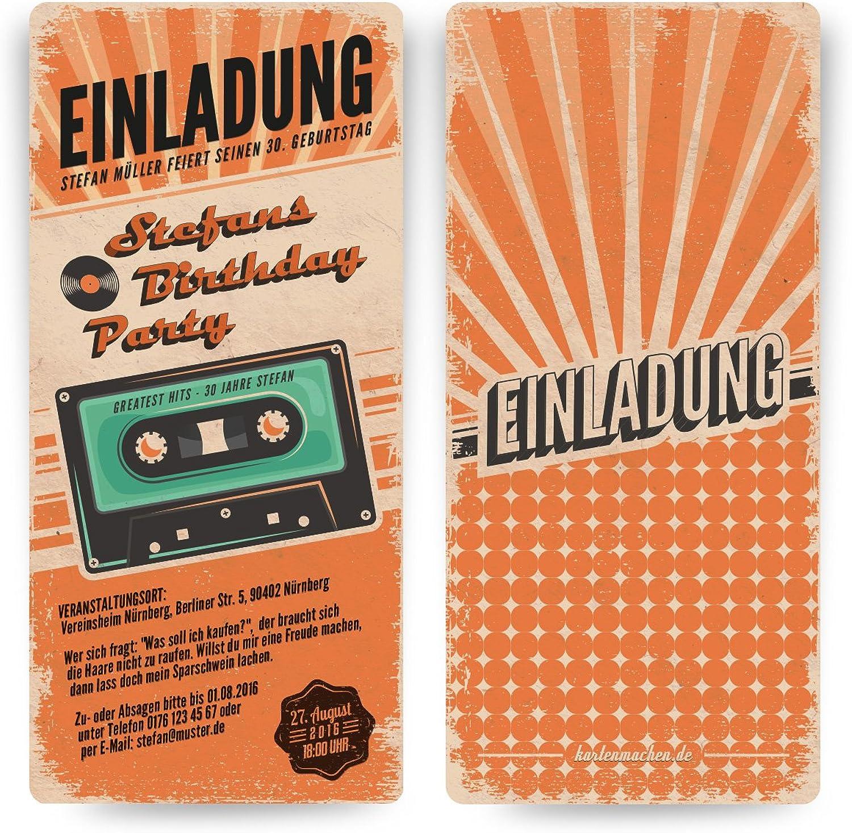 Einladungskarten zum Geburtstag (60 Stück) als Retro Karte Konzertkarten Konzertkarten Konzertkarten Vintage Konzert Disko Kassette B00OHMNZMC   Schön und charmant  e6d893