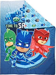PJ Masks Time to Save The Day Toddler Bed Comforter, Blue