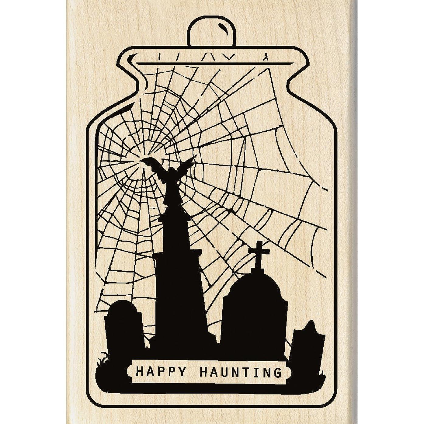 Inkadinkado 60-01094 Happy Haunting Wood Stamp, Black