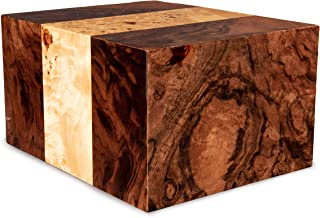 Chateau Urns- Adult Cremation Urn (Labarde, Large)- Wooden Memorial Box for Ashes, Funeral