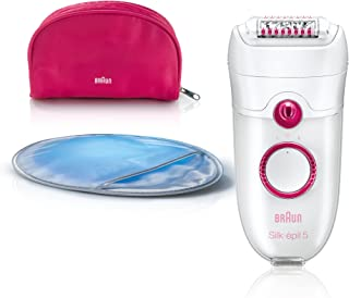 Braun Silk-épil 5 5185 Young Beauty Legs - Depiladora (Epilator) Crimson, Color blanco