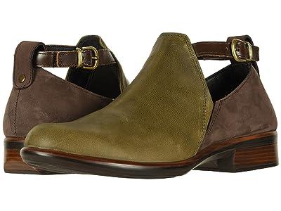 Naot Kamsin (Vintage Pine Leather/Coffee Bean Nubuck/Pecan Brown Leather) Women