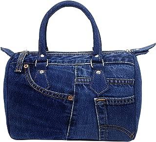 BDJ Classic Blue Denim Jean Doctor Style Women Handbag Purse LL-04 (Dark Shade)
