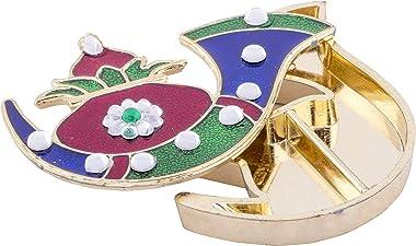 Handicraft Storeroom Kumkum Holder Tilak Decorative Platter Set (05) (Meenakari-Sankh)