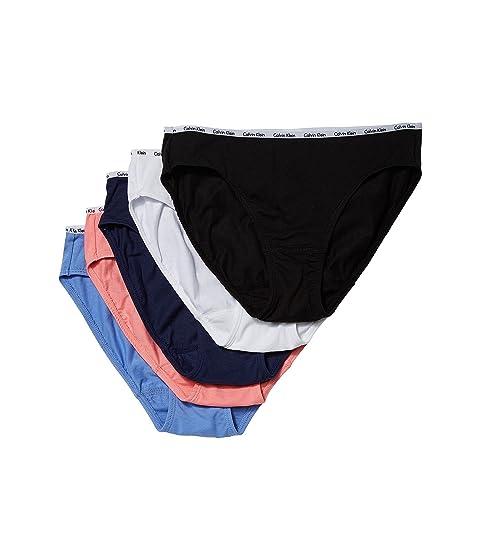 Calvin Klein Underwear 5-Pack Signature Cotton Bikini Bottoms at ... 8d7a6d852d6