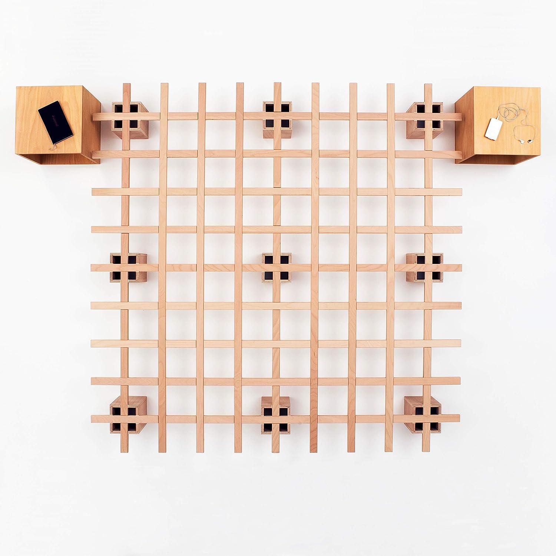 Tojo - Somier desplegable para futón (200 x 200 cm), Color Madera